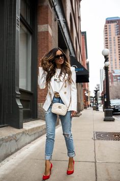 New York is treating us well with this warm spring weather and I decided to share 5 spring fashion trends 2019 everyone can wear. Mode Outfits, Fall Outfits, Summer Outfits, Casual Outfits, Fashion Outfits, Womens Fashion, Fashion Tips, Spring Fashion Trends, Spring Summer Fashion