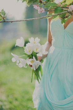 Aqua | Pale light turquoise | summer, dress, flowers, wedding, bridesmaid, bride