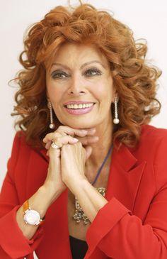 Sofia Loren--Looks stunning today as she always has!