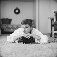 7. 1953 Audrey Hepburn at her Beverly Hills apartment, 1953. Photograph by Mark…