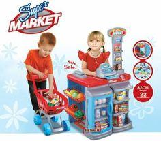 (SPM-1) deAO Kids Role Play Supermarket Set Superstore Shop Toys Children Supermarket - New Model 2013-11-28: Amazon.co.uk: Toys & Games