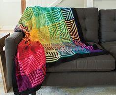 Hue Shift Crochet Afghan