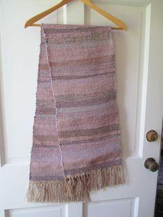 table runner, table rug , bureau scarf     rag type made by martha marthaweaves, $65.00