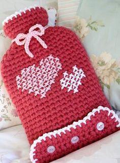 Free crochet pattern – Cherry Heart