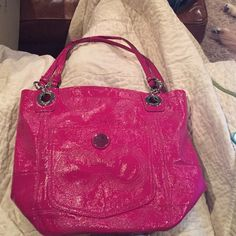 "Coach Tote Purse Pink Coach Tote Purse 15"" x 6"" x 12"". Used very few times. Excellent condition. Not looking to trade but open to reasonable offers!  Coach Bags Totes"