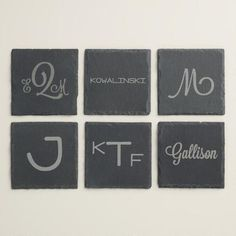 These Monogram Coasters From Cost Plus World Market Keep Your Tables Free  Of Spots While Adding A Touch Of Fun With The Monogram Design. Better Homes  ...
