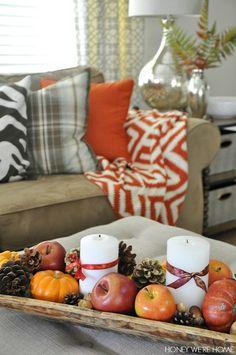 Cozy fall decor | Honey We're Home