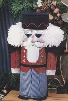 Nutcracker Plastic Canvas Pattern - Christmas Centerpiece