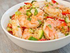 Vietnamese Shrimp And Quinoa Salad Good Eats! A Weekly Roundup from Serious Eats Shrimp And Quinoa, Shrimp Salad, Cooked Shrimp, Seasoned Shrimp, Thai Shrimp, Garlic Shrimp, Grilled Shrimp, Chicken Salad, Seafood Recipes