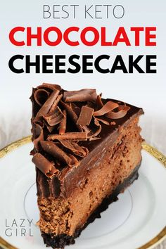 Best Keto Chocolate Cheesecake - every chocolate lovers dream cake. It is reach and decadent triple chocolate treat that is sugar-free low carb chocolate cheesecake mania. Keto Brownies, Cream Cheese Brownies, Chocolate Cream Cheese, Sugar Free Chocolate, Chocolate Treats, Best Chocolate, Chocolate Lovers, Chocolate Bars, Low Carb Chocolate Cake