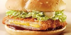 9. Cheese Katsu Burger (Japan)  Fried pork filled with cheese, served with tonkatsu sauce.