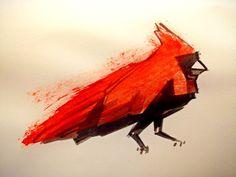 Cardinal Ink by Andrew Kuhar via Dribbble