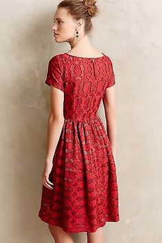 NWT Anthropologie Rubied Lace Dress Sz 6 and 8 P - By Moulinette Soeurs