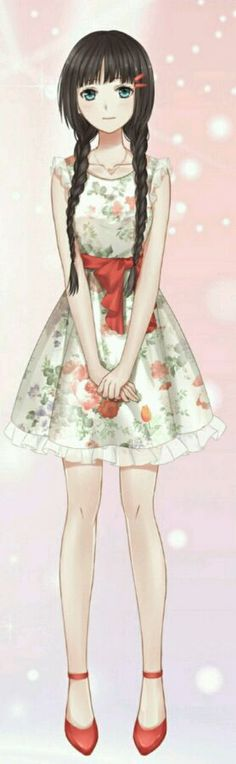 Anime girl | Great dress for gardening
