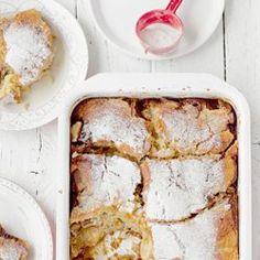 Pudding z rabarbarem, jabłkami i sosem karmelowym | Kwestia Smaku