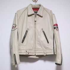 DIESEL SINGLE RIDERS/RACING  LEATHER JACKET Size: L