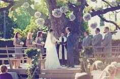 outdoor wedding ceremony by Fleuretica