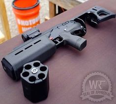 Integrally Suppressed Revolving Shotgun