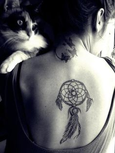 #tatoo #ink #back #beauty #dreamcatcher