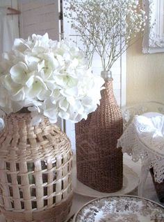 Cabin & Cottage   ...Natural Wicker and White