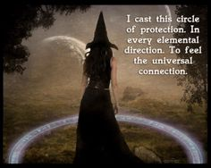 Casting a protective circle is making a psychic shield of energy around you to make sure nothing can get in you don't want to, including negative energie Witch Spell, Pagan Witch, Pagan Art, Circle Cast, Circle Circle, Witch Coven, Online Psychic, Magick Spells, Wicca Witchcraft