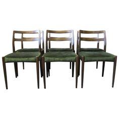Set of six Dining Chairs in Polished Oak, Model Anne by Johannes Andersen