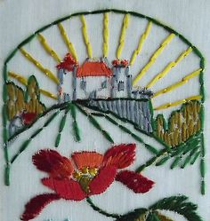 Ww1  #embroidered silk postcard. #landscape. #happy christmas greeting card.,  View more on the LINK: http://www.zeppy.io/product/gb/2/252391813901/