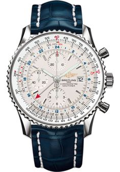 Breitling Watches - Navitimer World Stainless Steel - Croco Strap - Tang - Style…