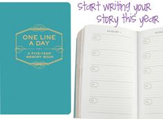 One-Line-A-Day Journal from Catching Fireflies! A great #giftidea