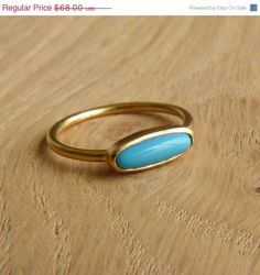 Turquoise Ring Gold Plated by artemer on Etsy. $57.80, via Etsy.