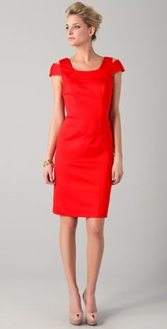 Milly Keithly Topstitched Sheath Dress thestylecure.com