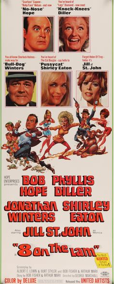 "Film: 8 on the Lam (1967) Year poster printed: 1967 Country: USA Size: 14""x 36"" Artist: Jack Davis This is a vintage insert (14""x36"") movie poster from 1967 for the comedy film 8 on the Lam starring B"