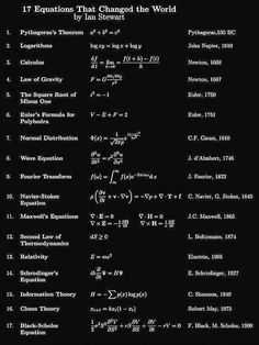 Equations that changed the world Physics Notes, Physics And Mathematics, Math Notes, Quantum Physics, Physical Science, Science Education, Primary Education, Education Quotes, Statistics Math