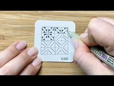 Zentangle Muster: Kaas - YouTube Tangle Doodle, Doodle Art, Zentangle Patterns, Zentangles, Graph Paper, Star Fashion, Tangled, Doodles, Diy Crafts