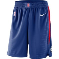 a827abcc7441 Nike Men s Los Angeles Clippers Statement Swingman Shorts - Black Red S
