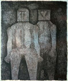 Dos hermanos mixografia by Rufino Tamayo. Please inquire for more details.