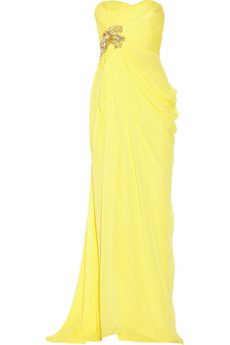 Notte by Marchesa Embellished silk-chiffon gown | THE OUTNET