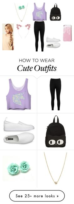 """""""Cute outfit"""" by animemaymay on Polyvore featuring Boohoo, Zoë Chicco, Hershesons and Hot Topic"""