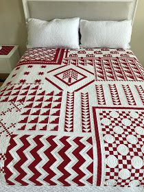 One of my quilting goals for 2017 is to piece a Red and White quilt. And this is… One of my quilting goals for 2017 is to piece a Red and White quilt. And this is my go to bible when it comes to red and white quilts, and… Two Color Quilts, Blue Quilts, Scrappy Quilts, Mini Quilts, Patchwork Quilting, Red And White Quilts, Quilt Of Valor, American Quilt, Star Quilt Patterns