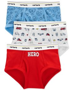Carter's Little & Big Boys Hero Cotton Briefs - Print Boys Underwear, Kids Socks, Unisex Baby Clothes, Women's Socks & Hosiery, Leggings Are Not Pants, Big Boys, Toddler Boys, Baby Shop, Briefs