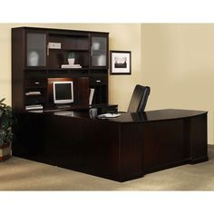 Mayline Sorrento Series Typical #5 Wood Office Suite