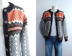Vintage Nordic Wool Fair Isle Cardigan Sweater / by zestvintage
