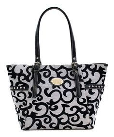 Look what I found on #zulily! d'Orcia Gray & Black Aliyah Tote by d'Orcia #zulilyfinds