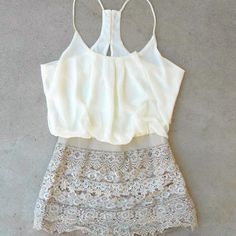 Crochet Macchiato Party Romper [6572] - $37.40 : Vintage Inspired Clothing & Affordable Dresses, deloom | Modern. Vintage. Crafted.