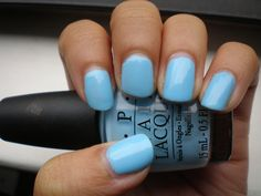 """Still my absolute favorite (especially for spring and summer) is OPI Shrek, """"What's with the cattitude?"""" A beautiful and bold blue perfect for warmer weather"""