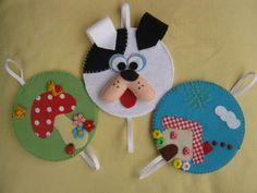 !!!!♥ Feltro-Aholic ♥ Moldes e pap em feltro e feltro estampado!: molde marcador de páginas feito com CD