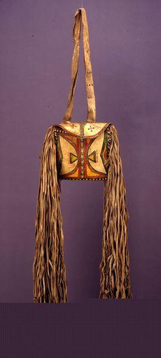 Lipan Apache parfleche bag, before 1873 British Mus ac