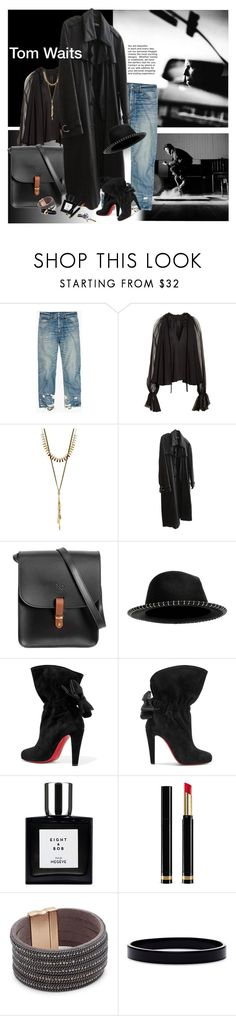 """""""She's a whiskey in a teacup...she's a diamond that want to stay coal - Tom Waits-"""" by laste-co ❤ liked on Polyvore featuring Madewell, Jonathan Simkhai, Lucky Brand, Raf Simons, N'Damus, Eugenia Kim, Christian Louboutin, Gucci, Saks Fifth Avenue and L. Erickson"""