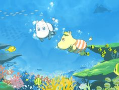 Moomin and Snork Maiden swimming Cute Wallpaper Backgrounds, Flower Backgrounds, Cute Wallpapers, Moomin Wallpaper, Les Moomins, Moomin Valley, Tove Jansson, Japanese Film, Night Aesthetic