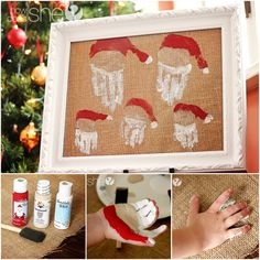 Santa family hands